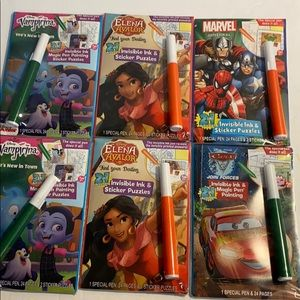 Six new Disney magic pen sticker books sealed